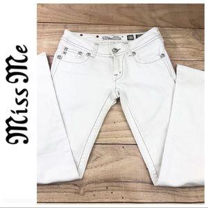 618b979dd01 Miss Me Jeans - 💕SALE💕Miss Me White Sequin Cluster Bootcut Denim